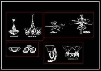 AutoCAD Blocks for Table Lamps Desk Lamp CAD Blocks, CAD Floor Lamps, Fans, Pendant Lighting AutoCAD Blocks, Wall Sconces CAD Symbols Ceiling Description