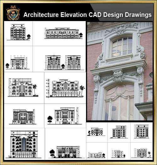 ★【Over 170+ Architecture Elevation,Building elevation CAD Design,Details,Elevation Collection】Facade design, building facade, home facade, building facade@Autocad Blocks,Drawings,CAD Details,Elevation