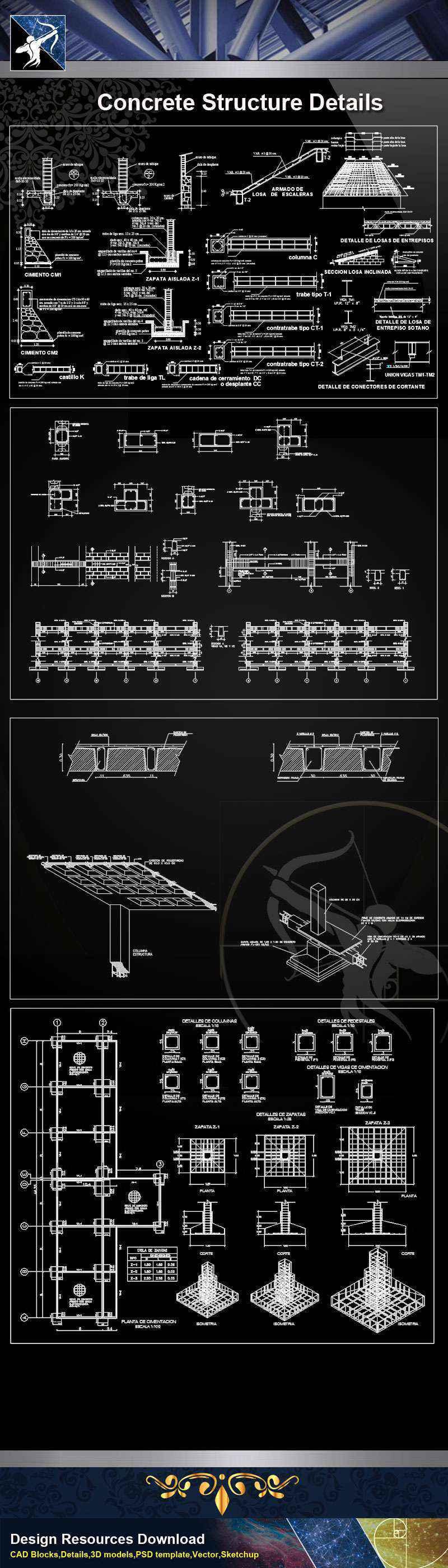 Concrete Structure CAD Details